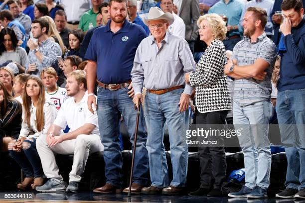 Former Dallas Mavericks owner Don Carter attends the Atlanta Hawks game against the Dallas Mavericks at the American Airlines Center in Dallas Texas...