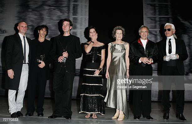 Former dancer JeanChristophe Maillot president of the Monaco Dance Forum French dancer Gil Roman choreographer Marco Goecke Princess Caroline of...