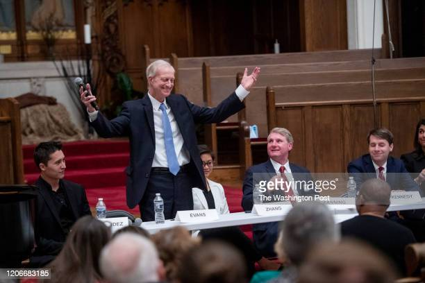 WASHINGTON DC MARCH 5 Former DC council member Jack Evans participates in a Ward 2 DC Council candidate forum at the Foundry United Methodist Church...