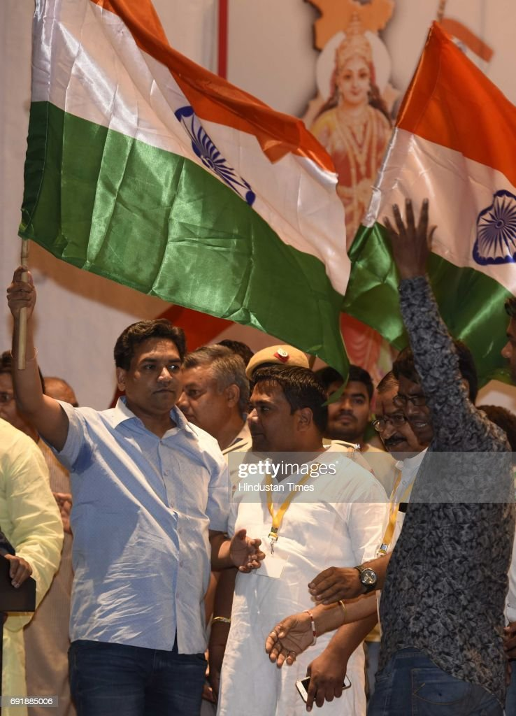 Former Delhi Minister Kapil Mishra Launches Second Phase Of Anti-Corruption Movement : News Photo