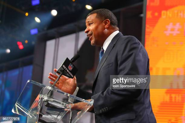 Former Denver Bronco Steve Atwater during the second round of the 2018 NFL Draft on April 27 at ATT Stadium in Arlington TX