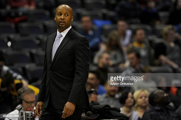 Former Denver Nuggets head coach Brian Shaw works his final game at the helm during the second half of a 9992 loss to the New Orleans Pelicans The...