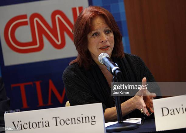 Former deputy assistant attorney general Victoria Toensing speaks during CNN's Media Conference For The Election of the President 2008 at the Time...