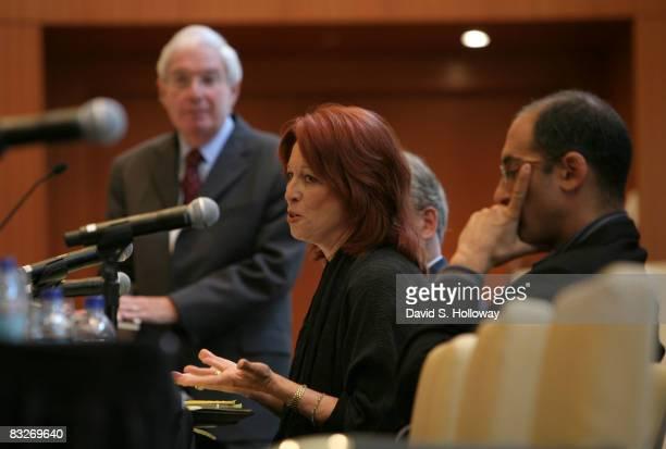Former deputy assistant attorney general Victoria Toensing speaks during Time Warner's Political Conference 2008 at the Time Warner Center on October...