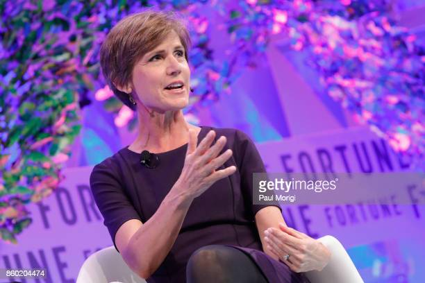 Former Deputy Attorney General US Department of Justice Sally Yates speaks onstage at the Fortune Most Powerful Women Summit Day 3 on October 11 2017...