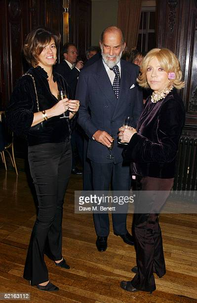 Former Deputy Editor of The Spectator Petronella Wyatt Prince Michael of Kent and Lady Wyatt attend the book launch for historian Andrew Roberts new...