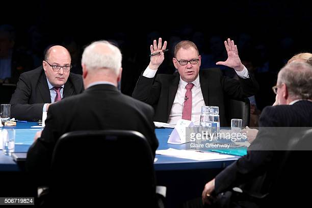 Former Deputy Finance Minister of Germany Steffan Kampeter and former Minister of Social Affairs and Employment in the Netherlands, Aart Jan De Geus...