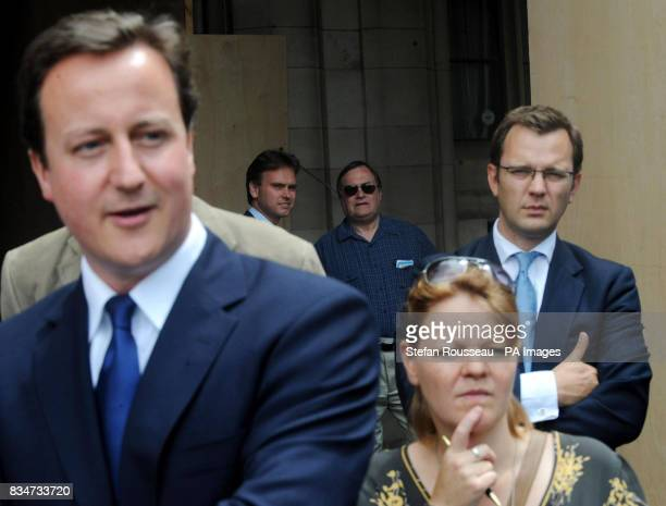 Former Deputy Prime Minister John Prescott watches on as US senator Barack Obama meets with Conservative Party leader David Cameron at the Houses of...
