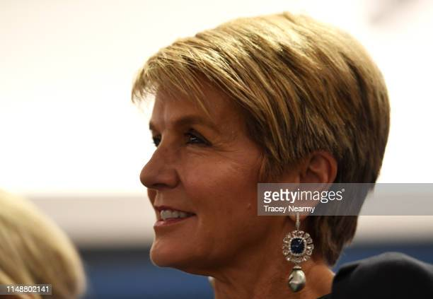 Former deputy Prime Minister Julie Bishop at a Liberal Party Rally in the seat of Swan during campaigning for the federal elections on May 13 2019 in...