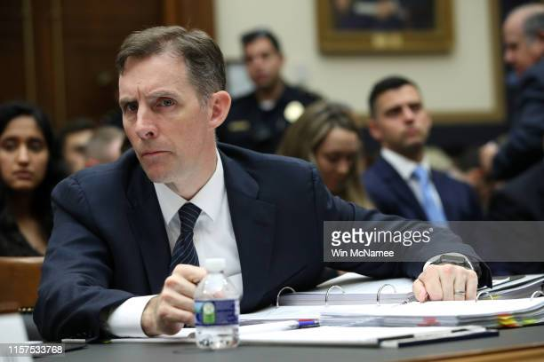 Former Deputy Special Counsel Aaron Zebley attends the testimony of former Special Counsel Robert Mueller before the House Judiciary Committee about...
