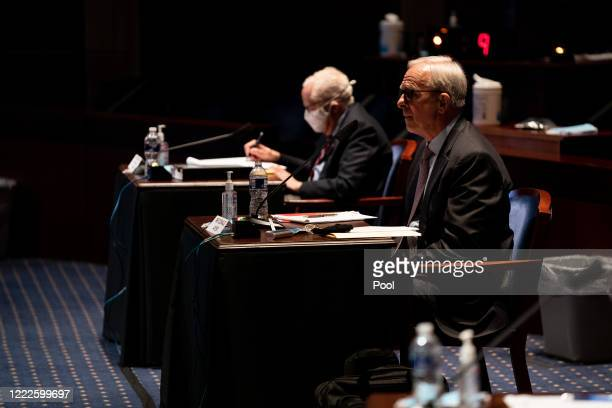 Former Deputy US Attorney General Donald Ayer attends a hearing of the House Judiciary Committee on June 24 2020 in Washington DC Democrats are...