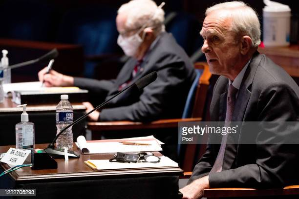 Former Deputy US Attorney General Donald Ayer speaks at a hearing of the House Judiciary Committee at the Capitol Building on June 24 2020 in...