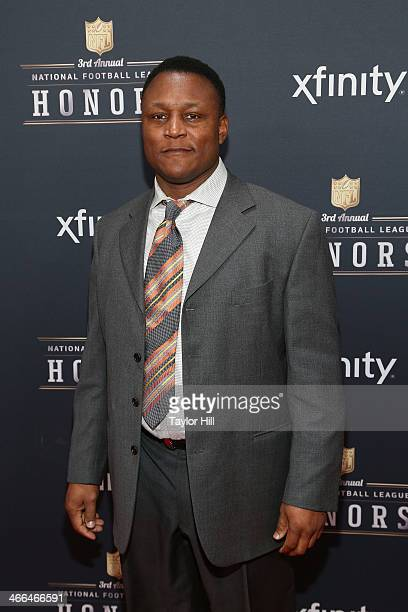 Former Detroit Lions running back Barry Sanders attends the 3rd Annual NFL Honors at Radio City Music Hall on February 1 2014 in New York City
