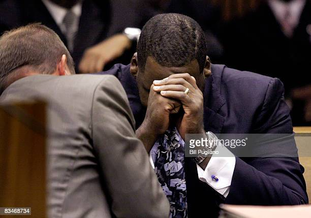 Former Detroit Mayor Kwame Kilpatrick appears in Wayne County Circuit Court for his sentencing October 28 2008 in Detroit Michigan Kilpatrick will...