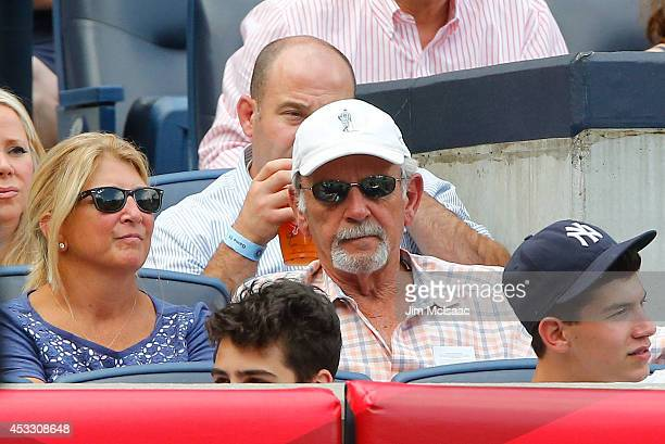 Former Detroit Tigers manager Jim Leyland attends a game between the New York Yankees and the Detroit Tigers at Yankee Stadium on August 7 2014 in...