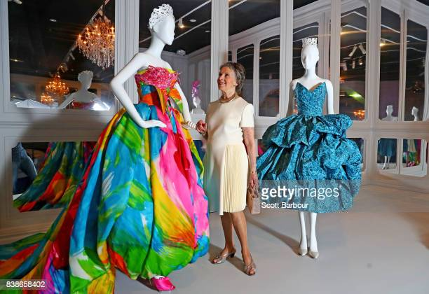 Former Dior house model Svetlana Lloyd who walked in the historic Australian Dior fashion parade at David Jones in 1957 poses during a media preview...
