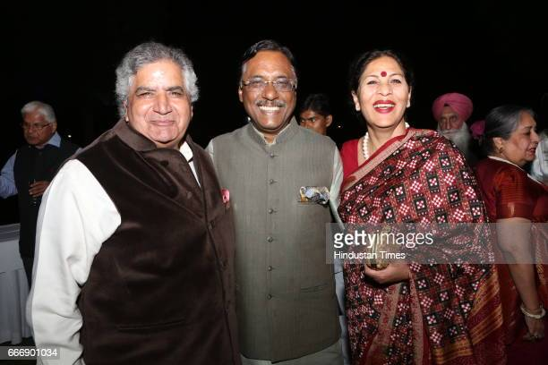 Former diplomat and JDU MP Pavan Kumar Varma with wife Renuka Varma during the Good France 2017 annual dinner hosted by French Ambassador Alexandre...