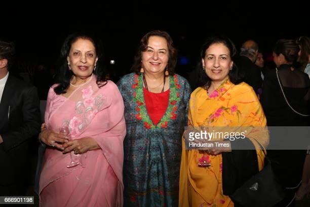 Former diplomat Savitri Kunadi Lawyer Pinki Anand and Padmini Sen during the Good France 2017 annual dinner hosted by French Ambassador Alexandre...