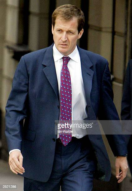 Former Director of Communications for British Prime Minister Tony Blair Alistair Campbell arrives at the high court to be cross examined at the...