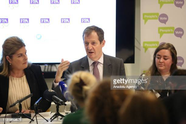 Former Director of Communications for the UK Labour Government Alastair Campbell takes part in a Foreign Press Association event on Brexit alongside...