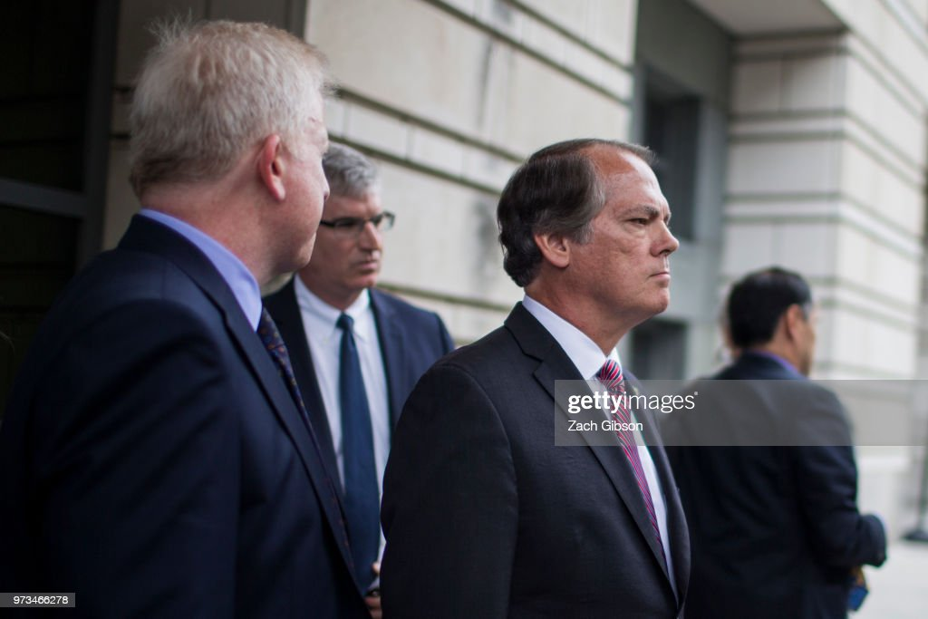 Former Director of Security for the Senate Intelligence Committee James Wolfe leaves U.S. District Court on June 13, 2018 in Washington, DC. Wolfe, who is charged with lying to the FBI about his contacts with reporters, pleaded not guilty.