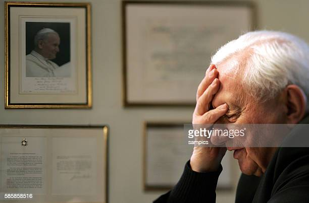Former director of the 'Regensburger Domspatzen' choir and brother of Pope Benedikt XVI Dr Georg Ratzinger during an interview in his home in...