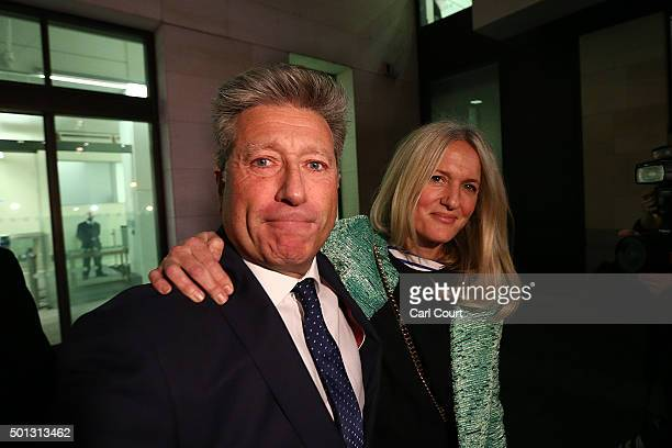 Former DJ Neil Fox leaves with his wife Vicky after being cleared of all charges in his trial at the City of Westminster Magistrates Court on...