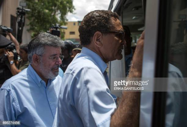 Former Dominican Minister of Public Works Victor Diaz Rua and the former director of the Dominican Electricity Corporation Cesar Domingo Sanchez...