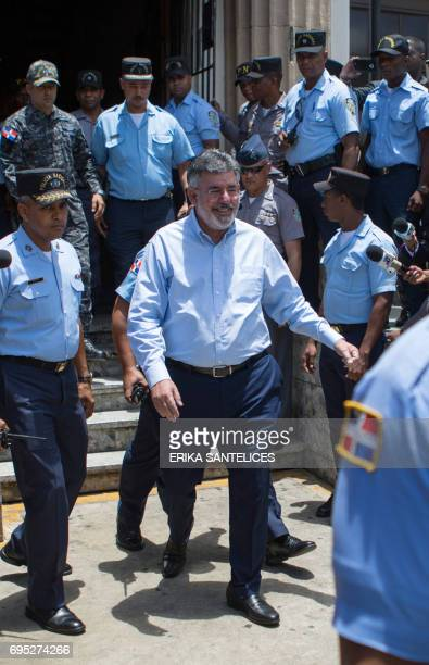 Former Dominican Minister of Public Works Victor Diaz Rua, detained in relation to the Odebrecht corruption scandal, is being transferred from the...