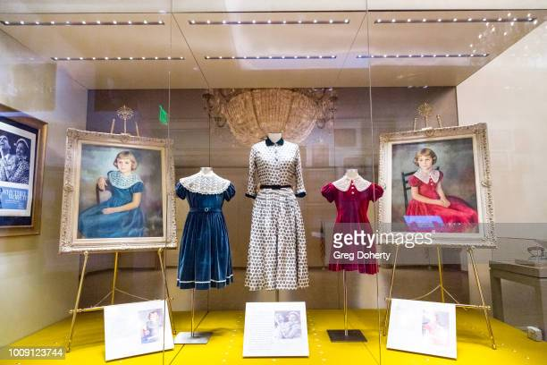 Former dresses worn by the Nixon daughters on display at Why They Wore It The Politics Pop Culture Of First Ladies'Fashion Exhibit Opening at Richard...