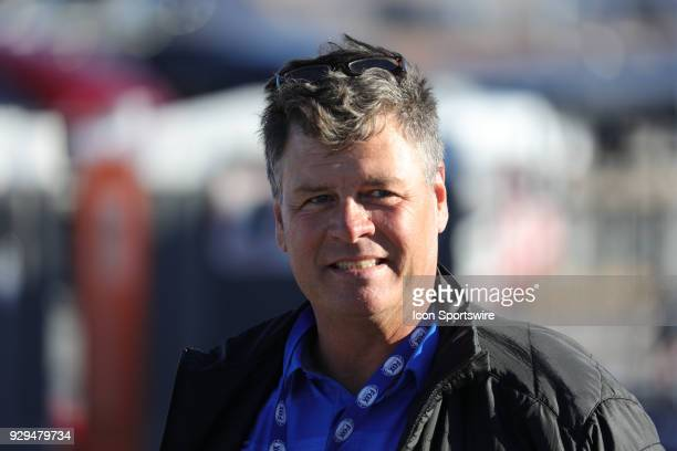 Former driver and Fox analyst Michael Waltrip before qualifying for the Pennzoil 400 Monster Energy NASCAR Cup Series race on March 2 at Las Vegas...