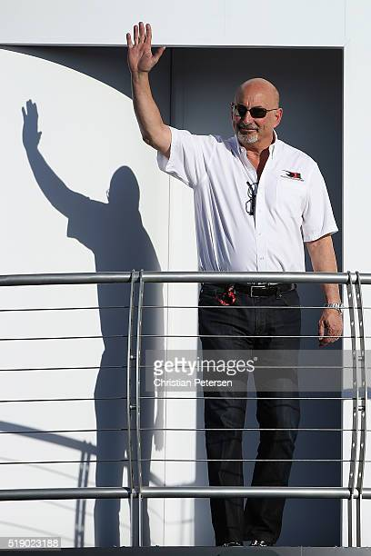 Former driver and team owner Bobby Rahal is introduced before the Phoenix Grand Prix at Phoenix International Raceway on April 2 2016 in Avondale...