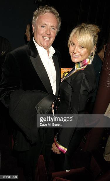 Former drummer of the band Queen Roger Taylor and partner Sarina Potgieter attend the West End premiere of Spamalot at the Palace Theatre October 17...