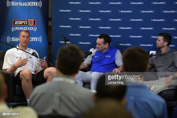Former Duke basketball player Mason Plumlee Duke basketball head coach Mike Krzyzewski and SiriusXM host Chris Spatola sit down for SiriusXM's Town...