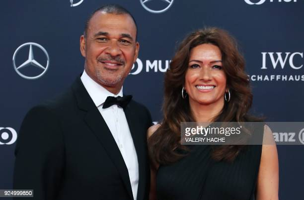 Former Dutch football player Ruud Gullit poses on the red carpet before the 2018 Laureus World Sports Awards ceremony at the Sporting MonteCarlo...