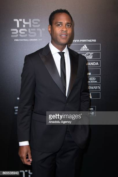 Former Dutch Player Patrick Kluivert arrives for the The Best FIFA 2017 Awards at the Palladium Theatre in London England on October 17 2017
