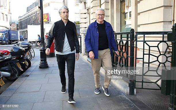 Former EastEnders actor Larry Lamb and TV presenter son George Lamb arrive for Matalan breakfast for Alder Hey Children's Charity at Balthazar...
