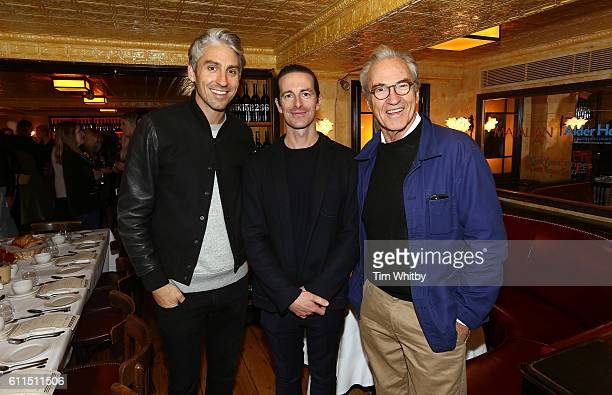 Former EastEnders actor Larry Lamb and TV presenter son George Lamb pose for a photo with Marketing Director for Matalan Simon Lee at Matalan...