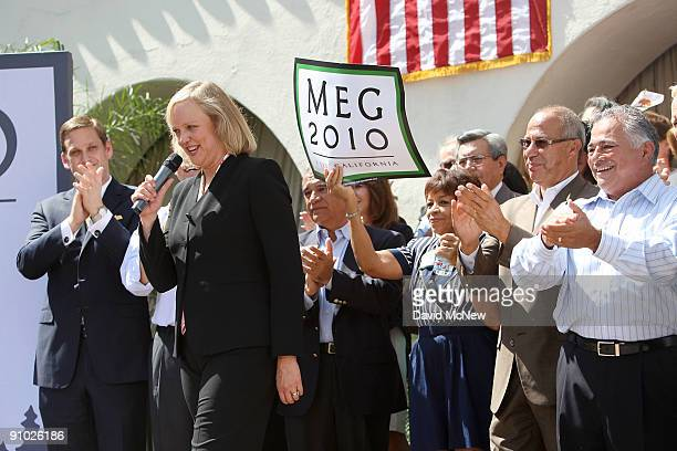 Former eBay CEO Meg Whitman officially announces her candidacy for the 2010 Republican gubernatorial nomination on September 22 2009 in Fullerton...