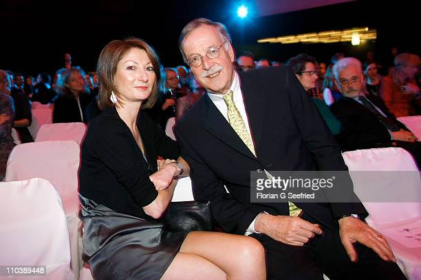 Former editor in chief of ZDF Hartmann von der Tann and wife Andrea attends the 'Liberty Award 2011' at Hotel Hyatt on March 17 2011 in Berlin Germany