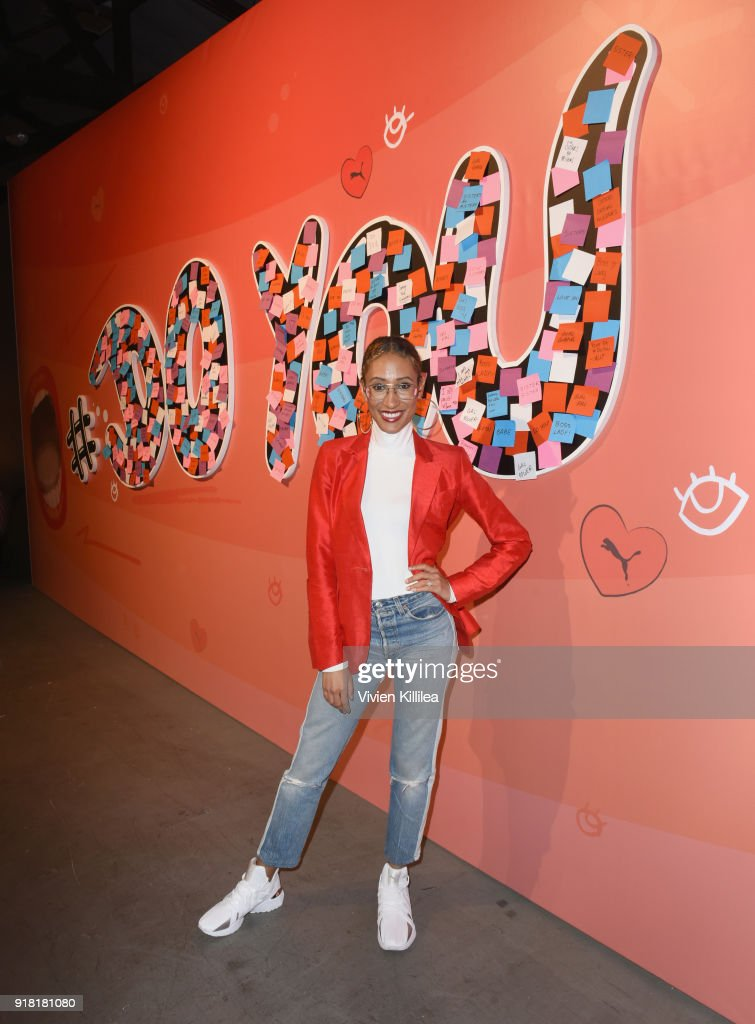 Former Editor-in-chief at Teen Vogue and award winning journalist Elaine Welteroth attends PUMA Galentine's Day Event with Yara Shahidi and Elaine Welteroth at Siren Studios on February 13, 2018 in Hollywood, California.
