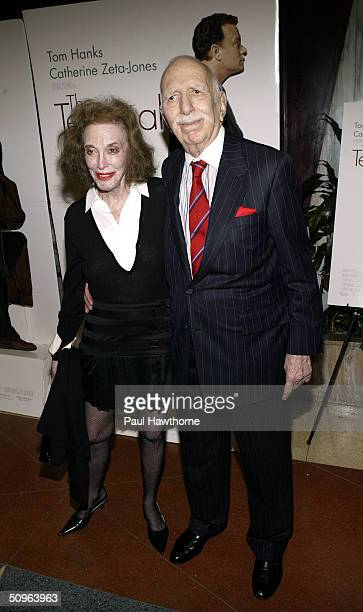 Former EditorinChief of Cosmopolitan magazine Helen Gurley Brown and her husband producer David Brown attend the screening of The Terminal hosted by...