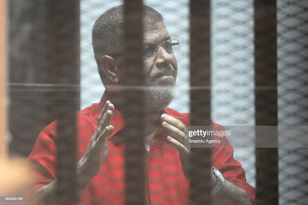 Trial of Morsi over espionage with Qatar : News Photo