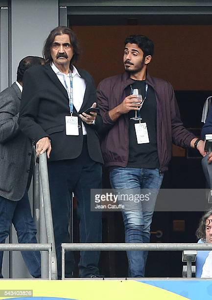 Former Emir of Qatar Sheikh Hamad bin Khalifa Al Thani attends the UEFA Euro 2016 round of 16 match between Italy and Spain at Stade de France on...