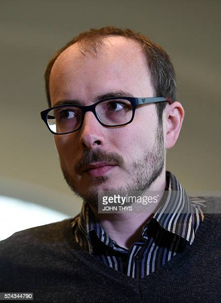 Former employee at services firm PwC Antoine Deltour arrives at the courthouse in Luxembourg on April 26 for a trial over the socalled LuxLeaks...