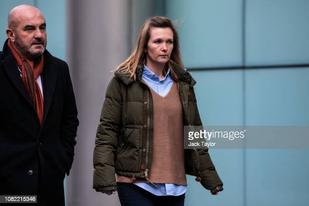Former employee of Barclays bank, Sisse Bohart leaves Southwark Crown Court where she faces charges over an alleged conspiracy to defraud as part of...