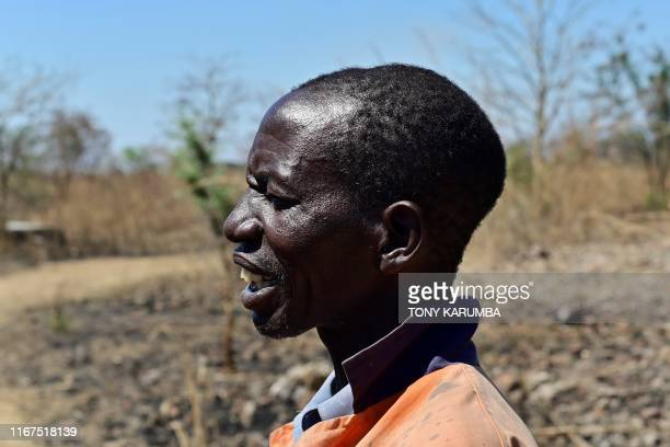 A former employee of Mount Carmel Farm in Chegutu is seen with an indentation at the top of his head sustained during a violent attack on the farm of...