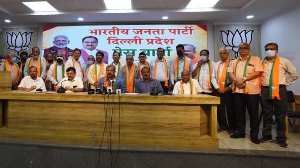 IND: Former Engineers And Technocrats Join BJP In Delhi