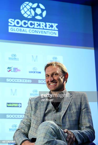 Former England and Arsenal player Tony Adams talks about 'Sporting Chance' during day four of the Soccerex Manchester Convention at Manchester...