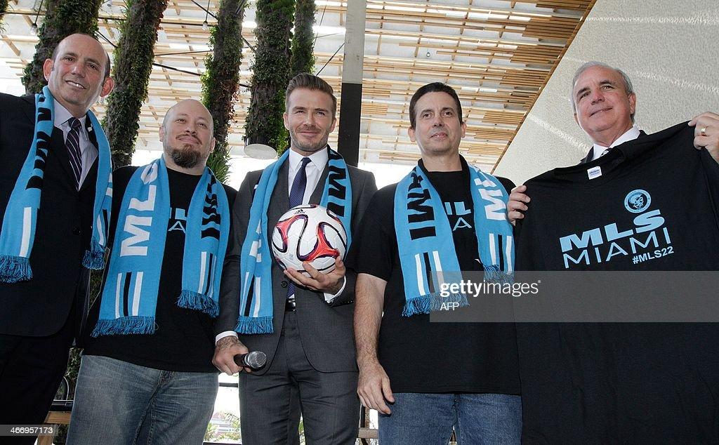 FBL-USA-MLS-ENG-BECKHAM-MIAMI : News Photo